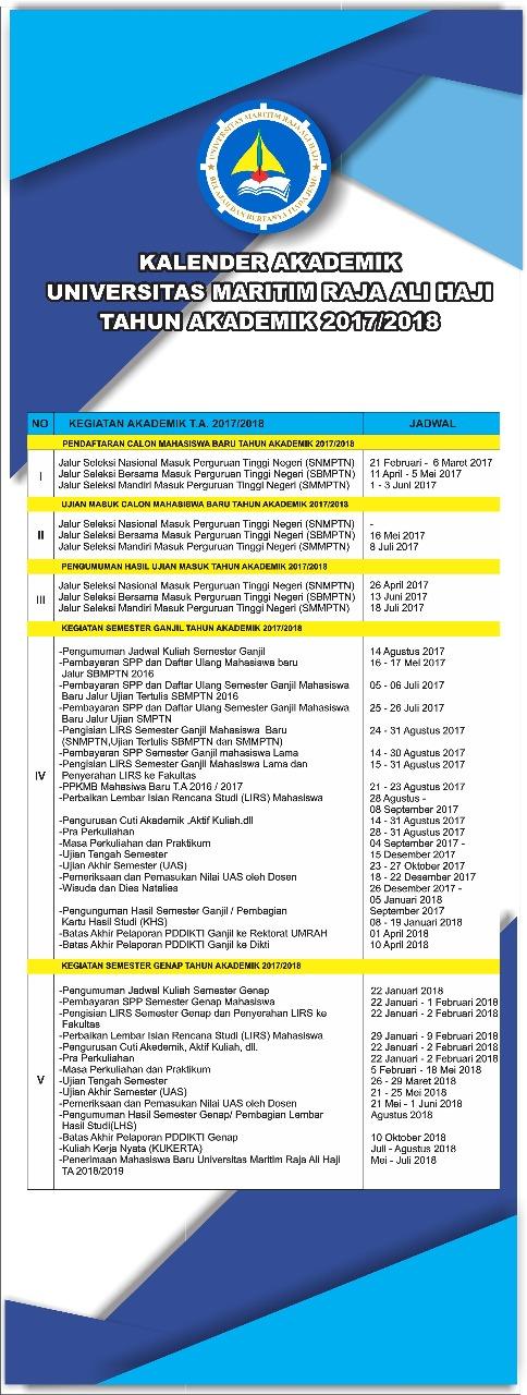 Kalender Akademik Tahun Ajaran 2017/2018